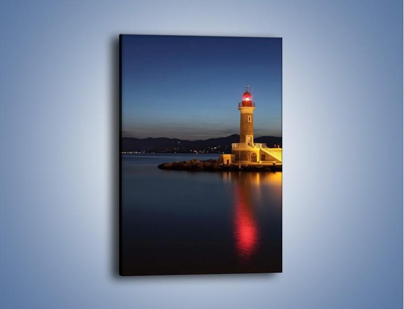 Obraz na płótnie – Latarnia morska wieczorem – jednoczęściowy prostokątny pionowy AM198