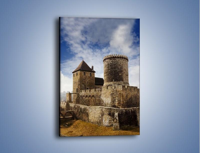 Obraz na płótnie – Średniowieczna fortyfikacja – jednoczęściowy prostokątny pionowy AM201