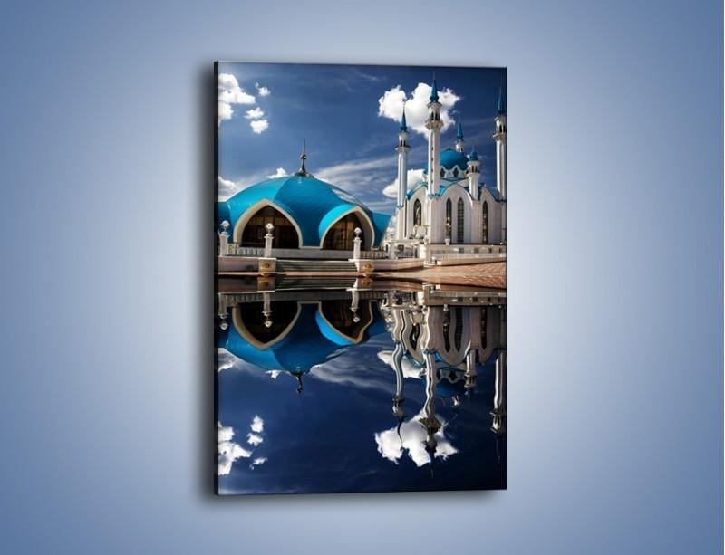 Obraz na płótnie – Meczet w odbiciu wody – jednoczęściowy prostokątny pionowy AM230
