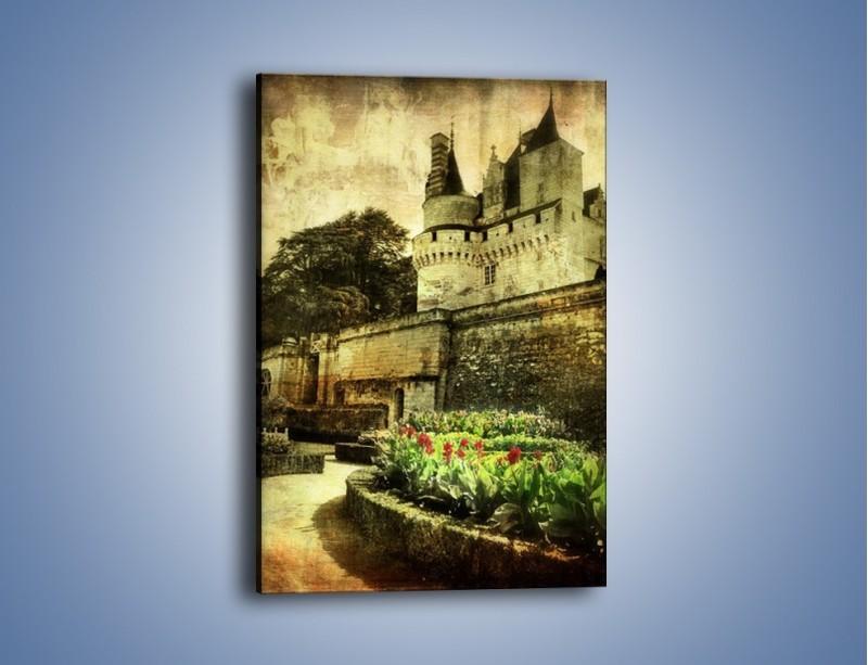 Obraz na płótnie – Zamek w stylu vintage – jednoczęściowy prostokątny pionowy AM234