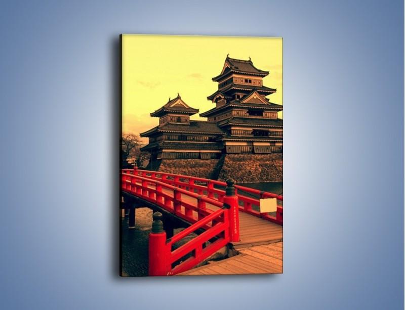Obraz na płótnie – Japońska architektura – jednoczęściowy prostokątny pionowy AM235
