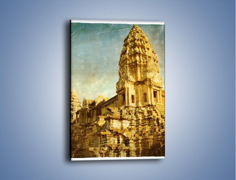 Obraz na płótnie – Starożytna architektura w stylu vintage – jednoczęściowy prostokątny pionowy AM246