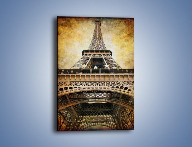 Obraz na płótnie – Wieża Eiffla w stylu vintage – jednoczęściowy prostokątny pionowy AM261