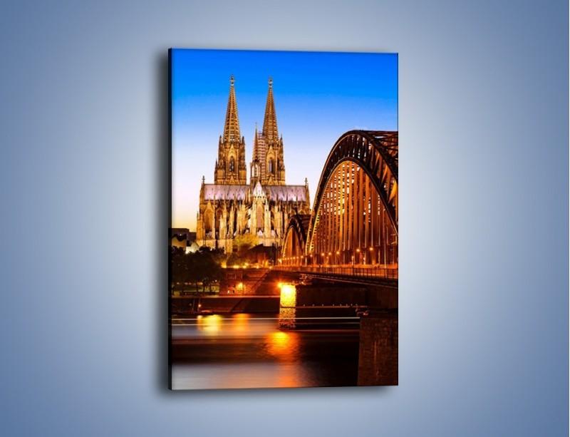 Obraz na płótnie – Katedra św. Piotra i NMP w Kolonii – jednoczęściowy prostokątny pionowy AM413