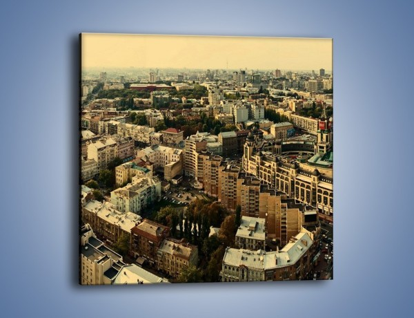 Obraz na płótnie – Panorama Kijowa – jednoczęściowy kwadratowy AM326