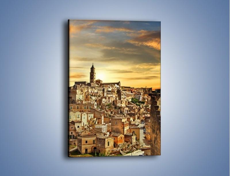 Obraz na płótnie – Matera – miasto wykute w skale – jednoczęściowy prostokątny pionowy AM517