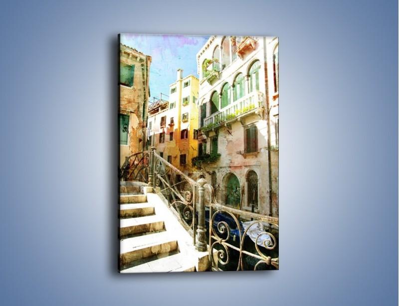 Obraz na płótnie – Wenecka architektura w stylu vintage – jednoczęściowy prostokątny pionowy AM718