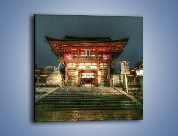 Obraz na płótnie – Świątynia w Kyoto – jednoczęściowy kwadratowy AM327