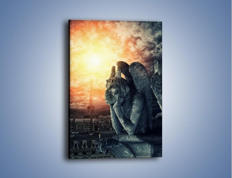 Obraz na płótnie – Paryski gargulec – jednoczęściowy prostokątny pionowy AM741