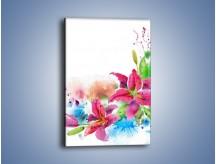 Obraz na płótnie – Kwiaty jak z bajki – jednoczęściowy prostokątny pionowy GR042