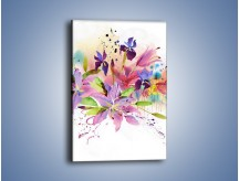Obraz na płótnie – Kolory zachowane w kwiatach – jednoczęściowy prostokątny pionowy GR043