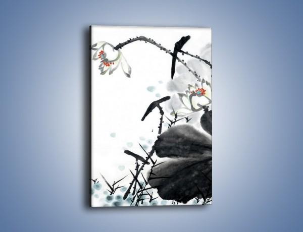 Obraz na płótnie – Kwiaty z kolorowym okiem – jednoczęściowy prostokątny pionowy GR074