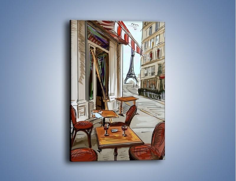 Obraz na płótnie – Lampka wina w paryżu – jednoczęściowy prostokątny pionowy GR260