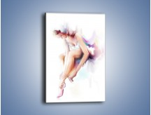 Obraz na płótnie – Delikatność baletnicy – jednoczęściowy prostokątny pionowy GR268