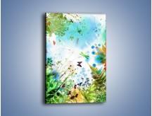 Obraz na płótnie – Baśniowa kraina w kolorach – jednoczęściowy prostokątny pionowy GR270