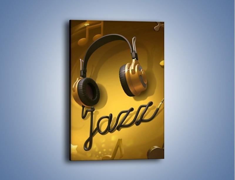 Obraz na płótnie – Złote nuty jazzu – jednoczęściowy prostokątny pionowy GR305