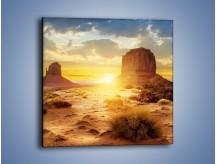 Obraz na płótnie – Budowle na piachu – jednoczęściowy kwadratowy KN1133A