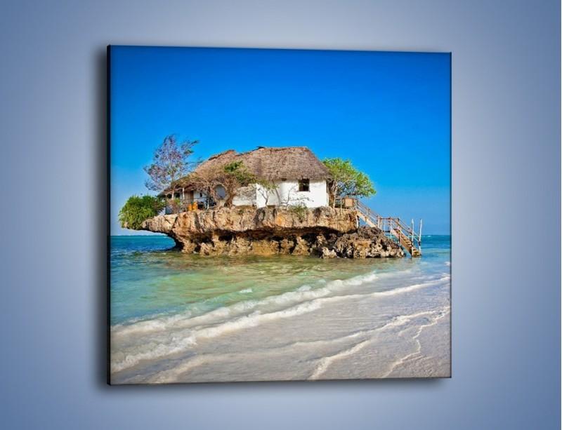 Obraz na płótnie – Dom na skarpie – jednoczęściowy kwadratowy KN1150A