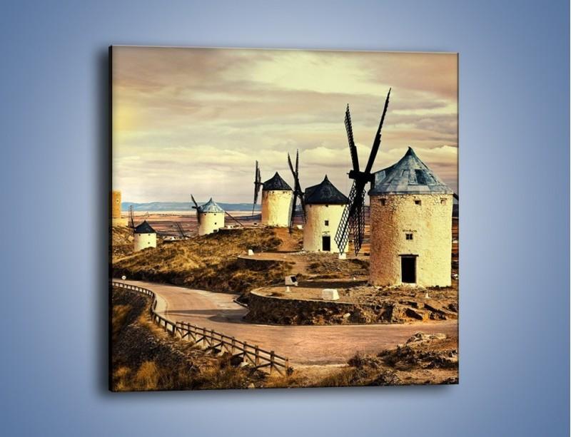 Obraz na płótnie – Młyny przy drodze do zamku – jednoczęściowy kwadratowy KN1154A