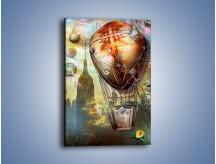 Obraz na płótnie – Balonem przez miasto – jednoczęściowy prostokątny pionowy GR451