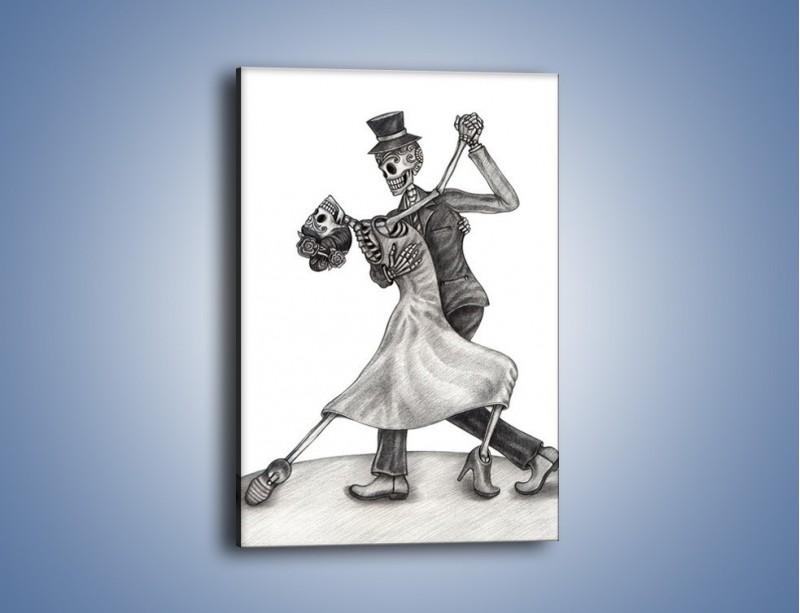 Obraz na płótnie – Tango wśród nieżywych – jednoczęściowy prostokątny pionowy GR496