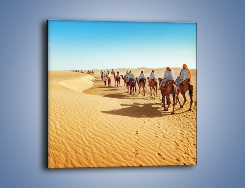 Obraz na płótnie – Szła karawana przez pustynię – jednoczęściowy kwadratowy KN1173A
