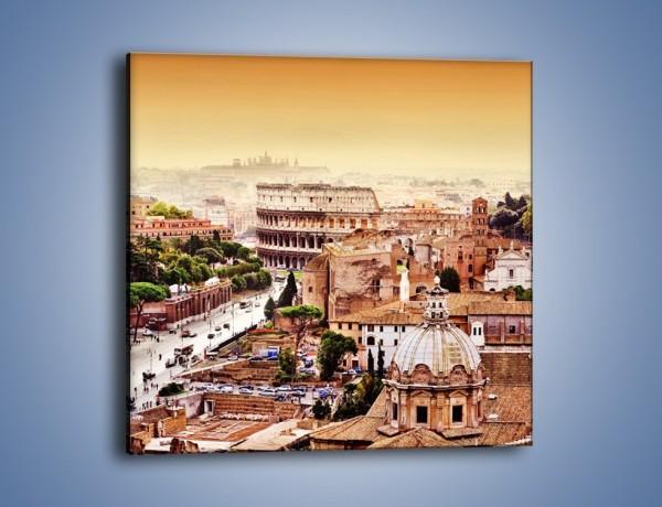 Obraz na płótnie – Panorama Rzymu – jednoczęściowy kwadratowy AM338
