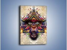Obraz na płótnie – Groźny mimo kolorów – jednoczęściowy prostokątny pionowy GR515
