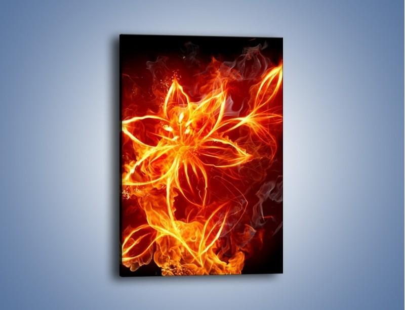 Obraz na płótnie – Spłonąć jak kwiat – jednoczęściowy prostokątny pionowy GR527