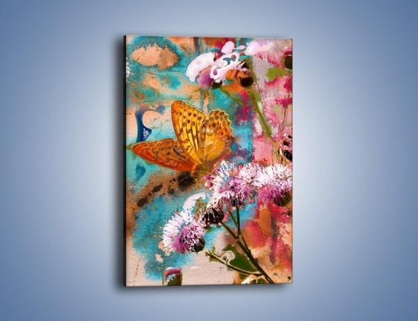Obraz na płótnie – Odpocząć na kwiatku – jednoczęściowy prostokątny pionowy GR604