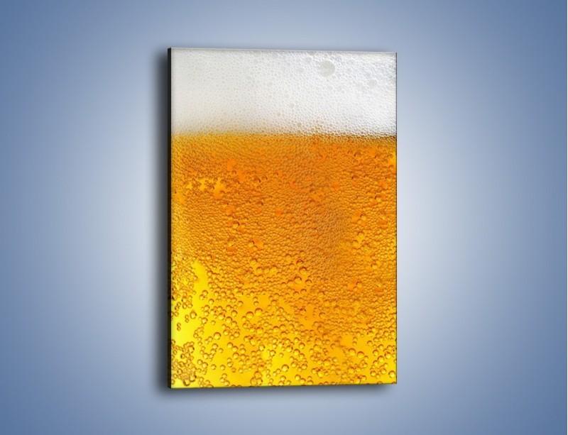 Obraz na płótnie – Orzeźwiające piwo z pianą na dwa palce – jednoczęściowy prostokątny pionowy JN011