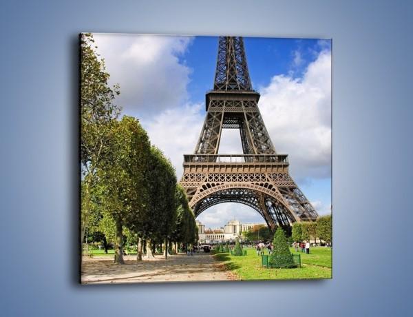 Obraz na płótnie – Wieża Eiffla – jednoczęściowy kwadratowy AM340