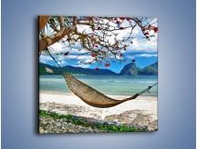 Obraz na płótnie – A może by odpocząć na hamaku? – jednoczęściowy kwadratowy KN1199A