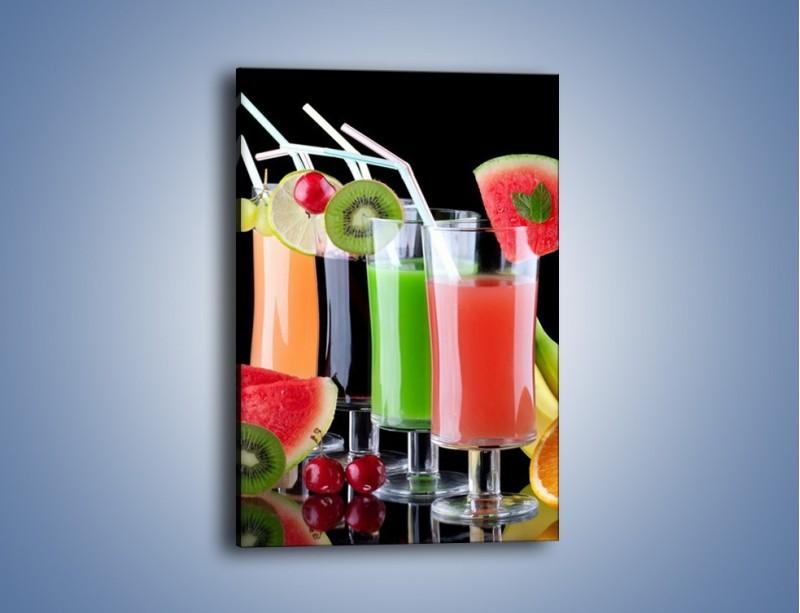 Obraz na płótnie – Shake z soczystych owoców – jednoczęściowy prostokątny pionowy JN014