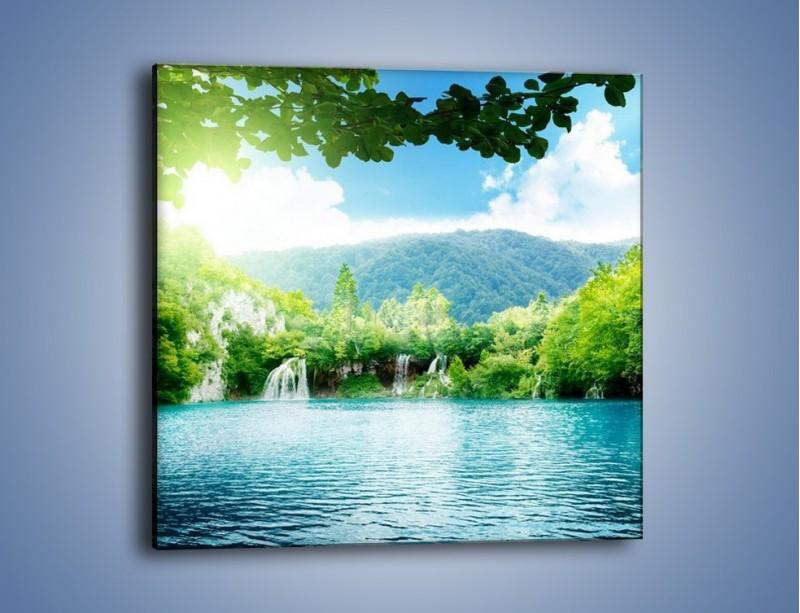 Obraz na płótnie – Kąpiel w chłodnej wodzie – jednoczęściowy kwadratowy KN1200A