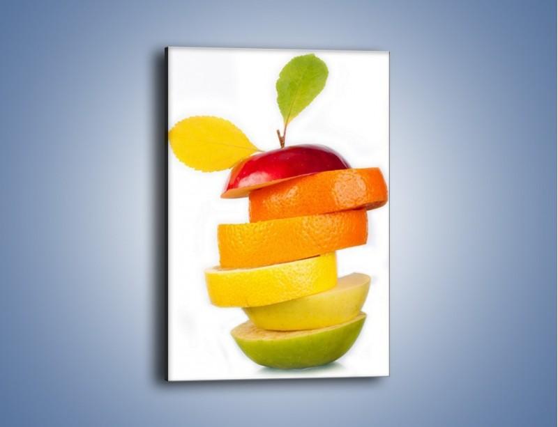 Obraz na płótnie – Piramida z plastrów owoców – jednoczęściowy prostokątny pionowy JN035