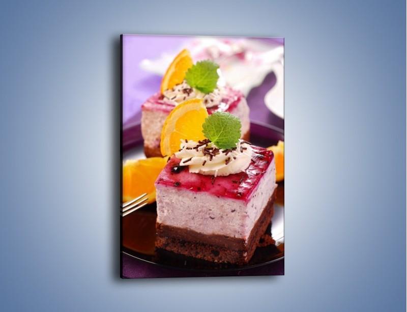 Obraz na płótnie – Jagodowe ciasto – jednoczęściowy prostokątny pionowy JN036