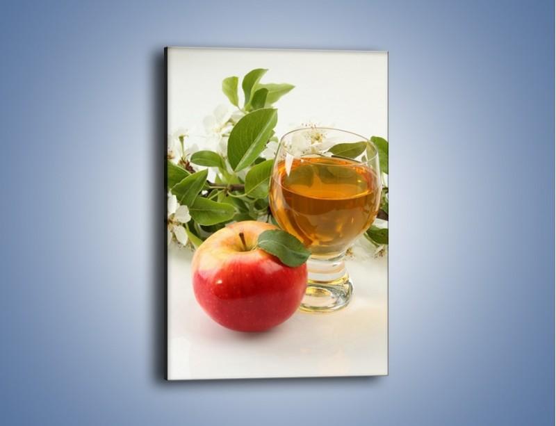 Obraz na płótnie – Świeżo wyciśnięty sok jabłkowy – jednoczęściowy prostokątny pionowy JN044