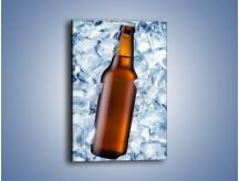 Obraz na płótnie – Ciemne piwo w butelce – jednoczęściowy prostokątny pionowy JN048