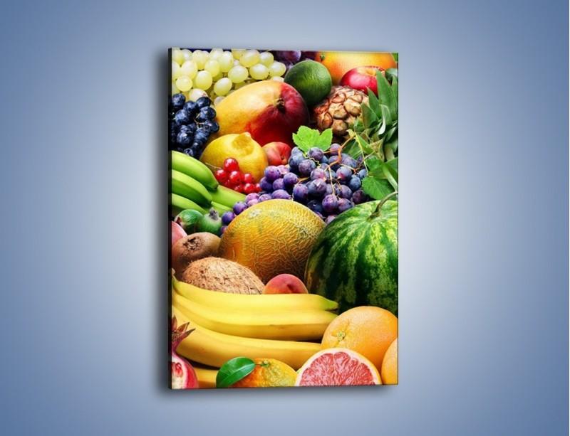 Obraz na płótnie – Stół pełen dojrzałych owoców – jednoczęściowy prostokątny pionowy JN072