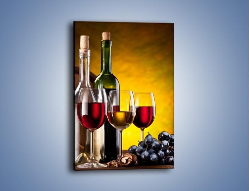Obraz na płótnie – Wino z orzechami – jednoczęściowy prostokątny pionowy JN077