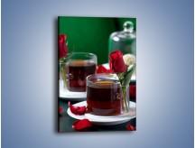 Obraz na płótnie – Herbata ze szczyptą miłości – jednoczęściowy prostokątny pionowy JN119