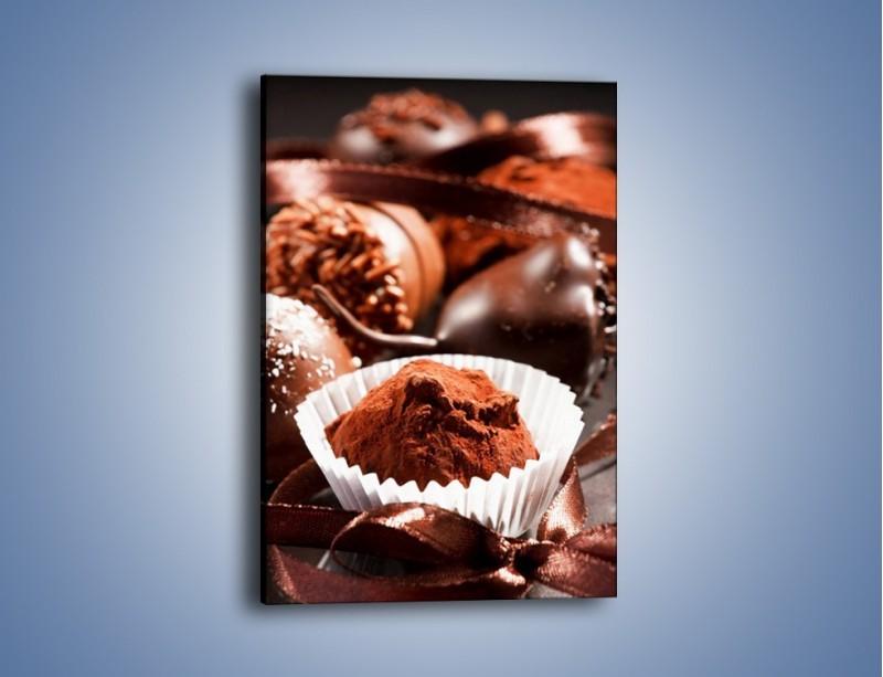 Obraz na płótnie – Małe czekoladowe pociechy – jednoczęściowy prostokątny pionowy JN124