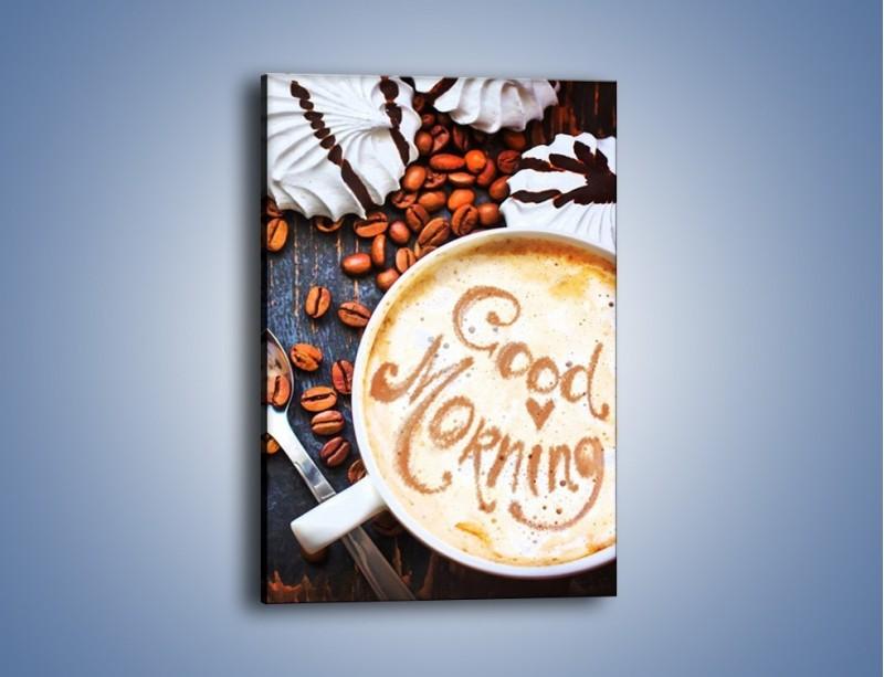 Obraz na płótnie – Kawa na miły początek dnia – jednoczęściowy prostokątny pionowy JN180