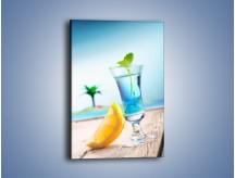 Obraz na płótnie – Blue curacao z miętą – jednoczęściowy prostokątny pionowy JN326