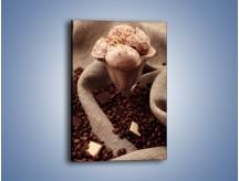 Obraz na płótnie – Deser czekoladowo-kawowy – jednoczęściowy prostokątny pionowy JN339