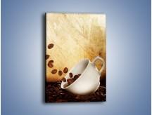 Obraz na płótnie – Rozsypane ziarna kawy – jednoczęściowy prostokątny pionowy JN346