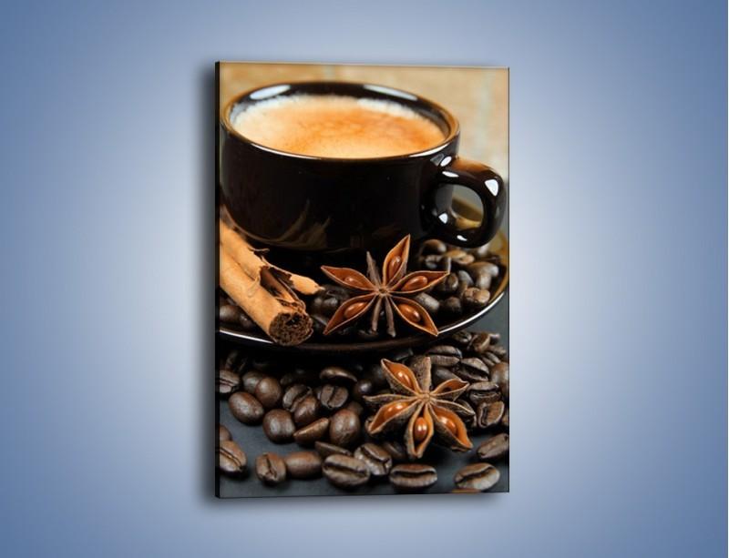 Obraz na płótnie – Spieniona kawa z goździkami – jednoczęściowy prostokątny pionowy JN350