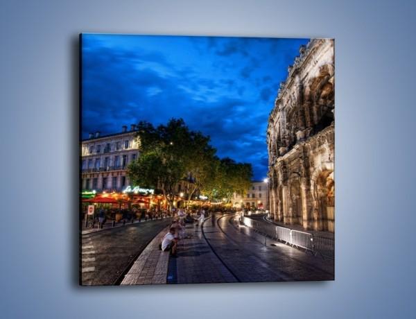 Obraz na płótnie – Nocne życie w Rzymie – jednoczęściowy kwadratowy AM344