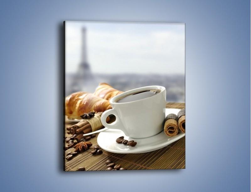 Obraz na płótnie – Francuski poranek z kawą – jednoczęściowy prostokątny pionowy JN383